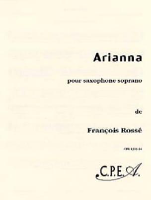 Arianna François Rossé Partition Saxophone - laflutedepan