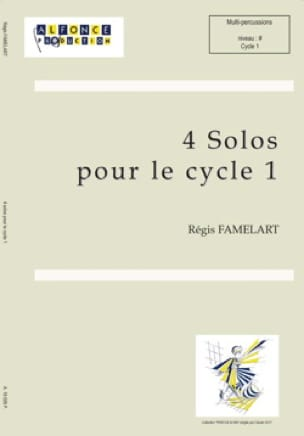 Régis Famelart - 4 Solos for cycle 1 - Sheet Music - di-arezzo.com