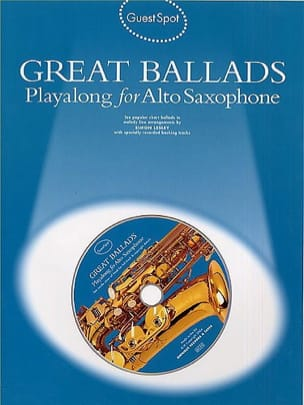 Guest Spot - Great Ballads Playalong For Alto Saxophone - Partition - di-arezzo.fr