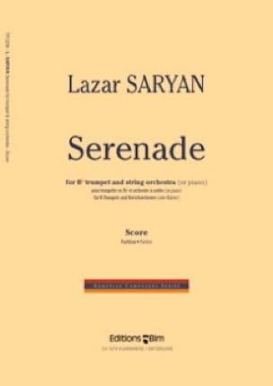 Lazar Saryan - Serenade (Orchestre à Cordes) - Partition - di-arezzo.fr