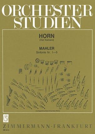 Sinfonie N° 1-5 Gustav Malher Partition Cor - laflutedepan