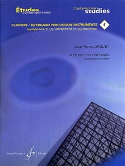 Jean-Pierre Drouet - 4-18 Progressive Studies - Contemporary Keyboard Studies 4 - Sheet Music - di-arezzo.co.uk