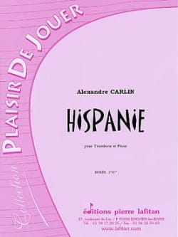 Alexandre Carlin - Hispanie - Partition - di-arezzo.fr