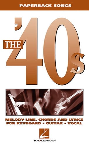 Paperback songs - The '40s - Partition - di-arezzo.fr