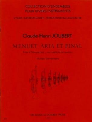 Claude-Henry Joubert - Menuet Aria et Final - Partition - di-arezzo.fr