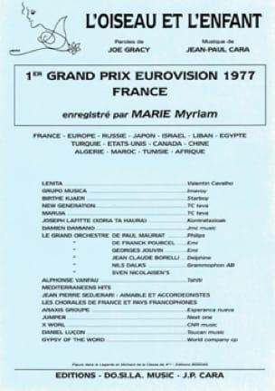 Jean-Paul Cara - L'oiseau et l'enfant Marie Myriam - Partition - di-arezzo.fr