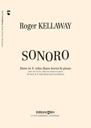 Sonoro Roger Kellaway Partition Ensemble de cuivres - laflutedepan