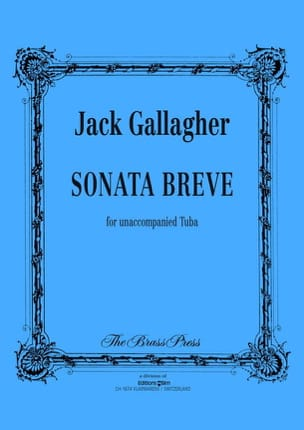 Sonata Breve Jack Gallagher Partition Tuba - laflutedepan