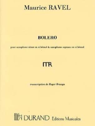 Boléro Maurice Ravel Partition Saxophone - laflutedepan