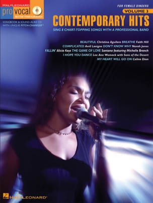 Pro Vocal Women's Edition Volume 3 - Contemporary Hits laflutedepan