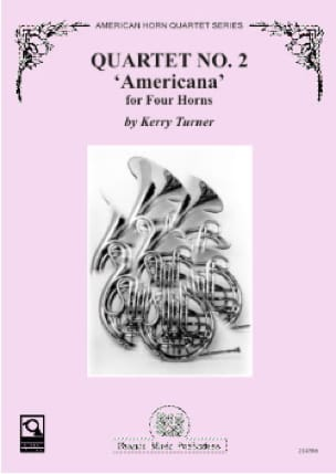 Kerry Turner - Quartet N° 2 Americana - Partition - di-arezzo.fr
