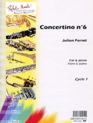 Julien Porret - Concertino N° 6 - Partition - di-arezzo.fr