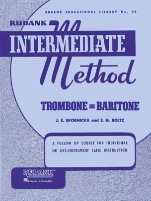Rubank Intermediate Method Trombone or Bariton laflutedepan