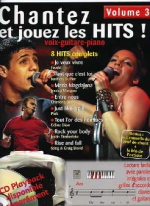- Chantez et jouez les hits! volume 3 - Partition - di-arezzo.fr