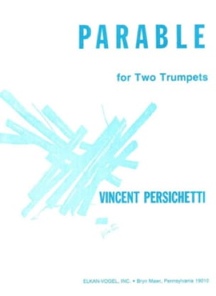 Vincent Persichetti - Parable 25 - Partition - di-arezzo.fr