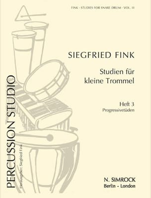 Siegfried Fink - Studies For Snare Drum Trommel Volume 3 - Partition - di-arezzo.fr