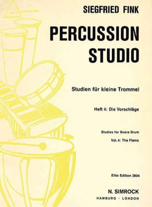 Siegfried Fink - Studies For Snare Drum Trommel Volume 4 - Partition - di-arezzo.fr