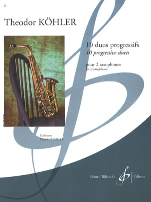 Theodor Köhler - 10 Duos Progressifs - Partition - di-arezzo.fr