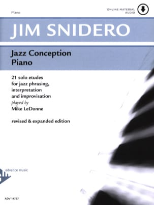 Jazz Conception For Piano 21 Solo Etudes - laflutedepan.com