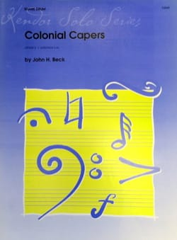 John Beck - Colonial Capers - Partition - di-arezzo.fr