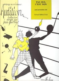Gérard Siracusa - Pas Oui, C'est Non - Partition - di-arezzo.fr