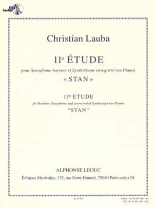 Christian Lauba - 11ème Etude Stan - Partition - di-arezzo.fr