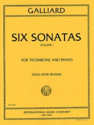 John E. Galliard - Six Sonatas Volume 1 - Partition - di-arezzo.fr