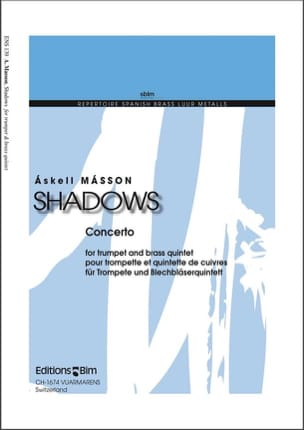 Askell Masson - Shadows - Partition - di-arezzo.fr