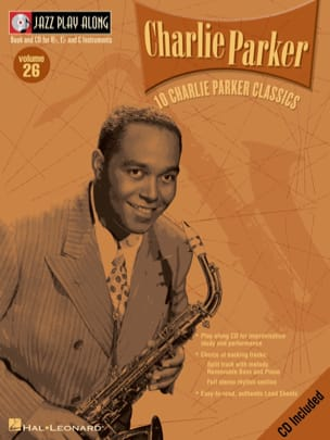 Charlie Parker - Jazz play-along volume 26 - Charlie Parker - Partition - di-arezzo.fr
