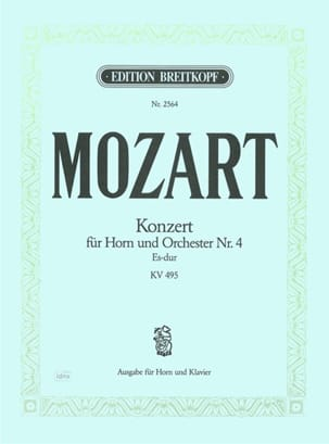 MOZART - Concerto for Horn Nr. 4 Es-Dur KV 495 - Sheet Music - di-arezzo.co.uk