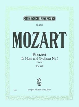 MOZART - Concerto pour cor Nr. 4 Es-Dur K.V. 495 - Partition - di-arezzo.fr