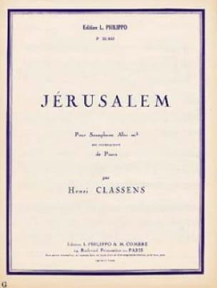 Jérusalem - CLASSENS - Partition - Saxophone - laflutedepan.com