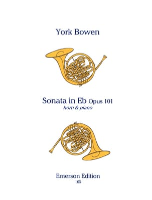 York Bowen - Sonate en Mib pour Cor - Partition - di-arezzo.fr
