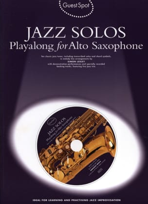 - Guest Spot - Jazz Solos Playalong For Alto Saxophone - Partition - di-arezzo.fr