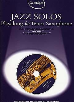 - Guest Spot - Jazz Solos Playalong For Tenor Saxophone - Partition - di-arezzo.fr