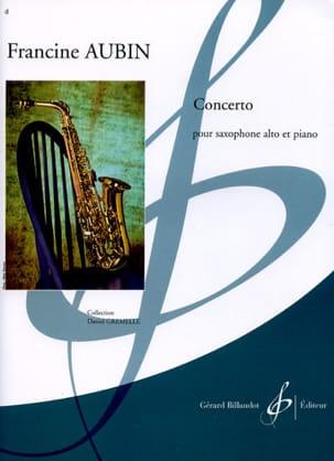 Concerto - Francine Aubin - Partition - Saxophone - laflutedepan.com