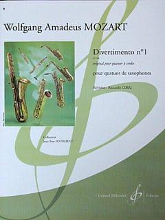 Divertimento N° 1 K 136 MOZART Partition Saxophone - laflutedepan