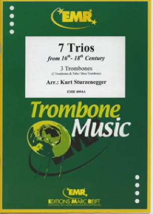7 Trios From 16th - 18th Century Partition Trombone - laflutedepan