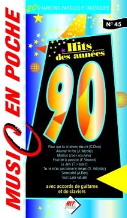 Music en poche N° 45 - Hits des années 90 Partition laflutedepan