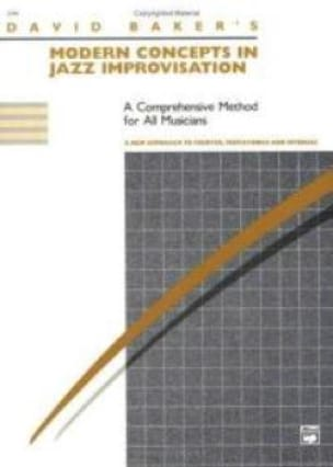 David Baker - Modern Concepts In Jazz Improvisation - Sheet Music - di-arezzo.com