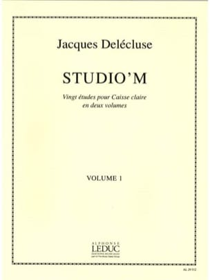 Jacques Delécluse - Studio 'M Volume 1 - Sheet Music - di-arezzo.com
