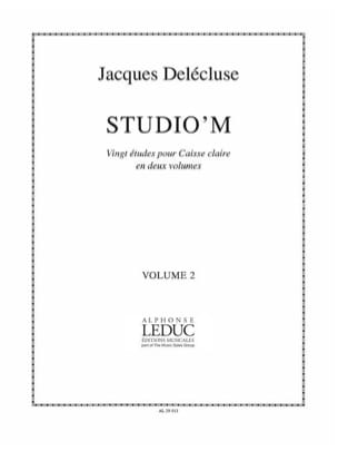 Jacques Delécluse - Studio' M Volume 2 - Partition - di-arezzo.fr