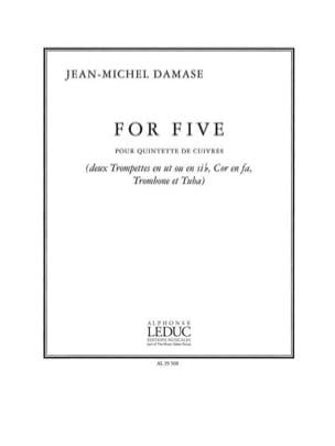 For Five Jean-Michel Damase Partition laflutedepan