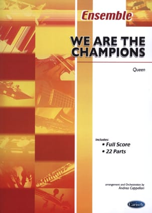 We Are The Champions Queen Partition ENSEMBLES - laflutedepan