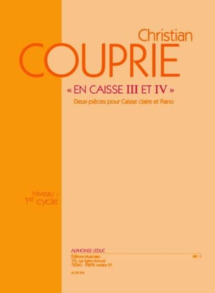 Christian Couprie - In Box 3 And 4 - Sheet Music - di-arezzo.com
