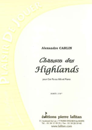 Alexandre Carlin - Chanson des Highlands - Partition - di-arezzo.fr