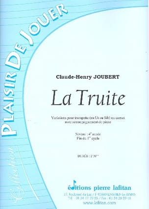 Claude-Henry Joubert - Trout - Sheet Music - di-arezzo.co.uk