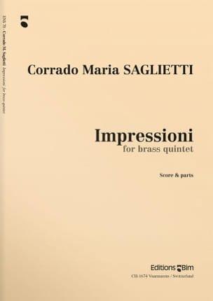 Corrado Maria Saglietti - Impressioni - Partition - di-arezzo.fr