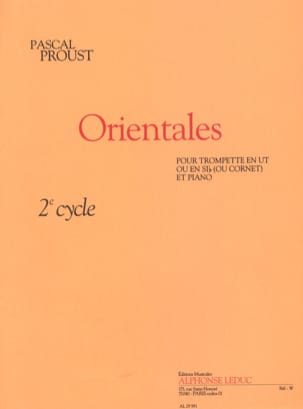 Pascal Proust - Orientales - Sheet Music - di-arezzo.co.uk