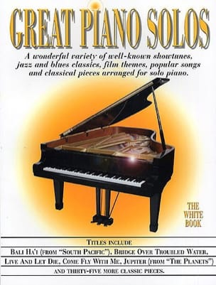 - Great piano solos - The white book - Partition - di-arezzo.fr